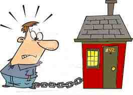 chained to a house